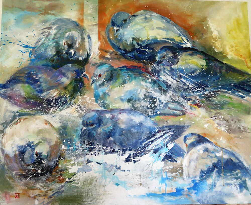 <i>Pigeons de Venise</i>. 81 X 100
