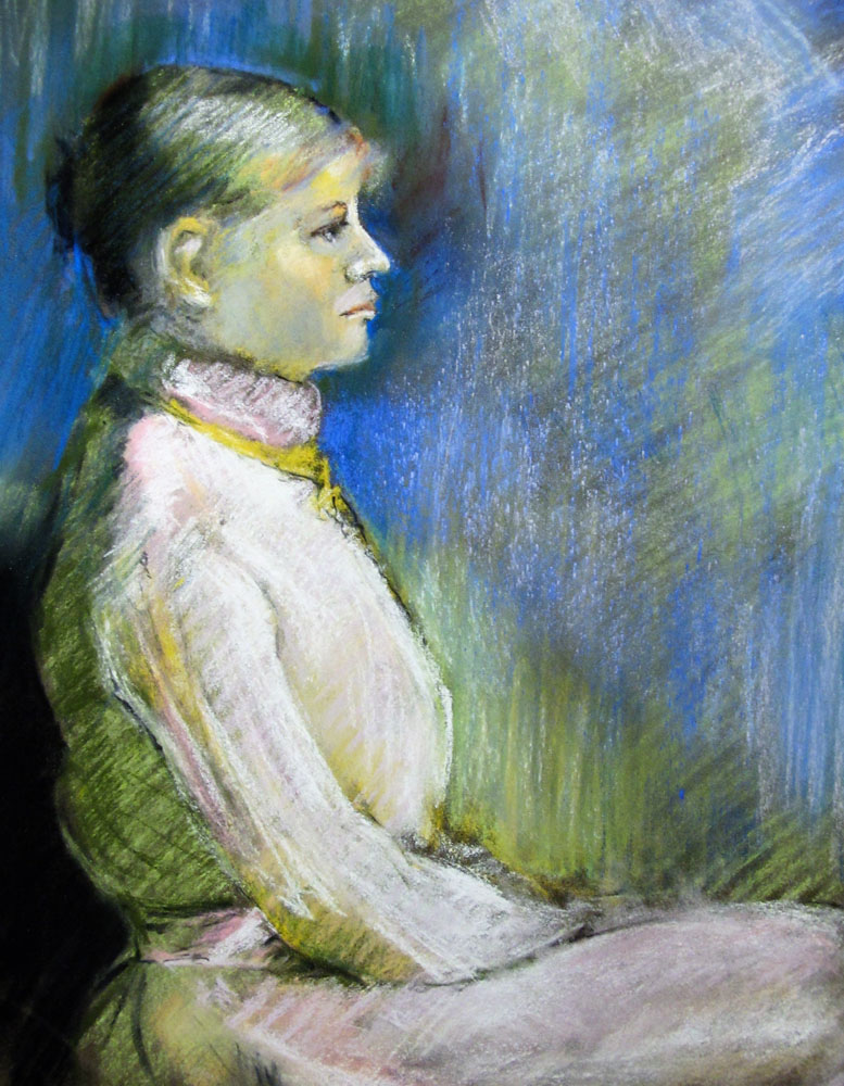 <i> Madeleine</i> pastels secs. 32 X 25