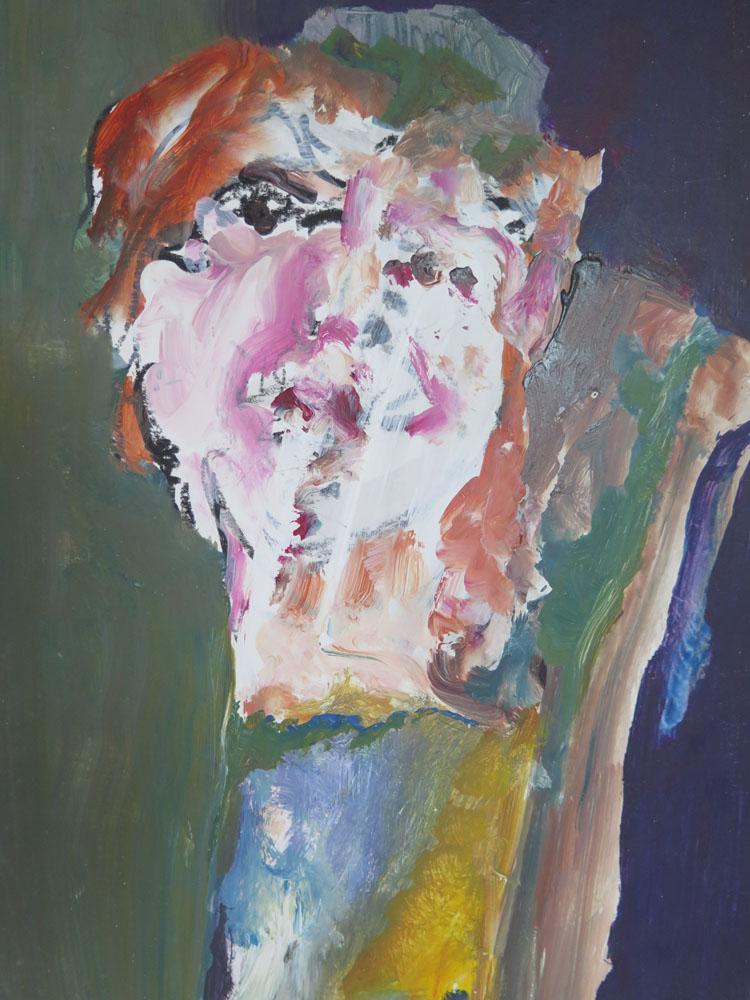 <i> Rose</i> Acrylique. 36 X 25