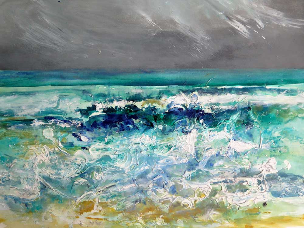 <i>Jour d'orage</i> Acrylique. 65 X 80